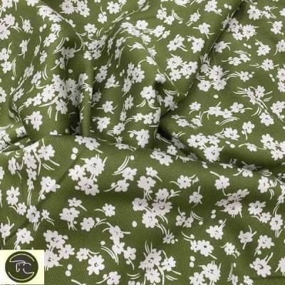 Штапель цветы оливковые