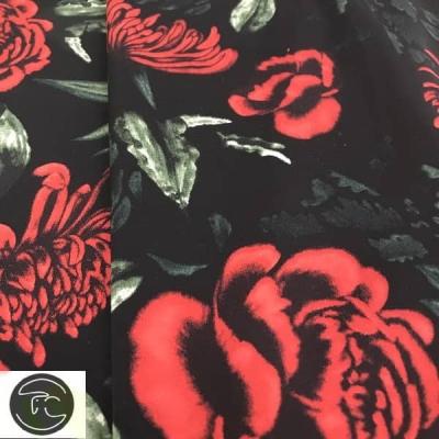 Атлас-шелк рисунок черный