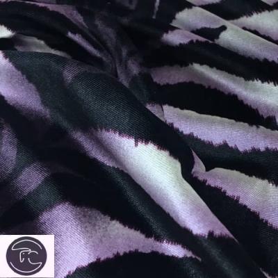 Бархат зебра фиолетовый
